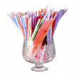 Multicolored straws — Stock Photo