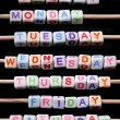Days of the week - Stock Photo