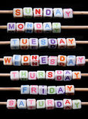 Days of the week — Stock Photo