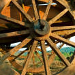 Cart wheel (closeup view) — Stock Photo