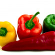 Green red and yellow fresh peppers — Stock Photo #1909119