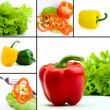 Collage of different vegetarian food — Stock Photo