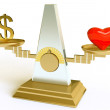 Royalty-Free Stock Photo: Conceptual image money and love