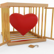 Stock Photo: Heart in the cage