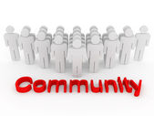 Group of symbolizing community — Stock Photo