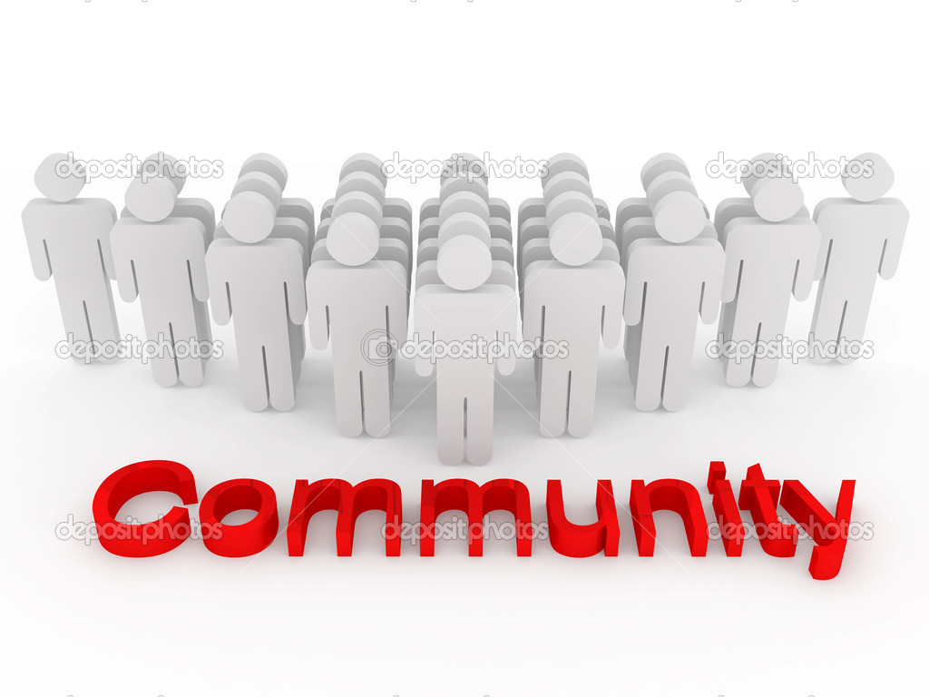 Group of symbolizing community — Stock Photo #2403830