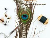 Fly tying tools — Stock Photo