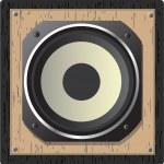Wooden speaker — Stock Vector #2459194