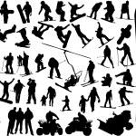 Snowboard silhouette — Stock Vector #2459285