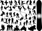 Snowboard silhouette — Stock Vector