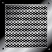 Vector blank metal table — Stock Vector