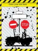 Warning sign card — Stock Vector