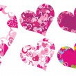 Valentine frames with hearts. — Stock Vector