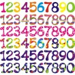 Royalty-Free Stock Vector Image: Number set with abstract patterns.