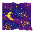 Stock Vector: Night background