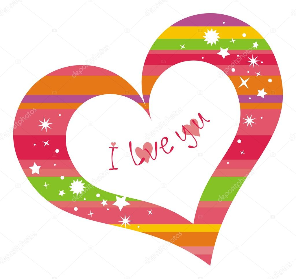 I love you. Vector illustration. — Stock Vector #1797555