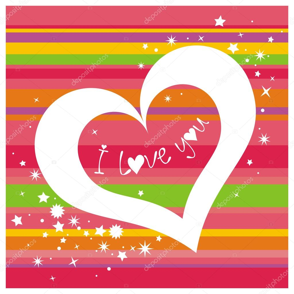 I love you. Vector illustration.  Stockvectorbeeld #1797572