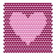 Valentine background with hearts — Vector de stock