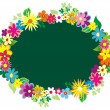 Garland of flowers — Vector de stock