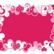 Pink vector frame — Stockvectorbeeld