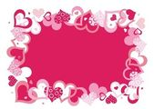 Pink vector frame — Stock Vector
