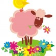 Stock Vector: Funny farm animals