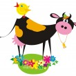 Vector de stock : Funny farm animals