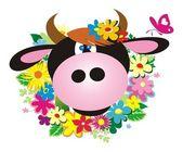 Vaca — Vector de stock
