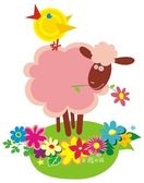 Animales funny farm — Vector de stock