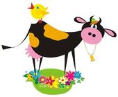Funny farm animals — Vector de stock