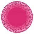 Circles with pink hearts - Stock Vector