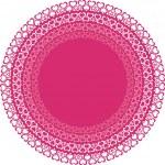 ピンク色の心円 — ストックベクタ
