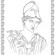 Ancient Greek goddess - Stock Vector