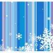 Winter background with snowflakes — Vettoriali Stock