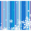 Winter background with snowflakes — Image vectorielle