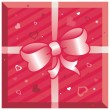 Gift box with hearts — Stockvektor