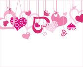 Valentijn achtergrond met hart — Stockvector
