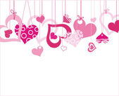 情人节背景用的心 — 图库矢量图片