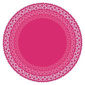 Circles with pink hearts — Vector de stock