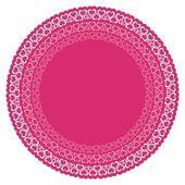 Círculos con corazones de color rosa — Vector de stock