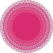 Circles with pink hearts — Stockvector