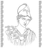 Ancient Greek goddess — Stockvector