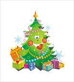 χριστουγεννιάτικο δέντρο — Διανυσματικό Αρχείο