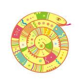 色の抽象的なヘビのイラスト — ストックベクタ