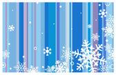 Fond d'hiver avec des flocons de neige — Vecteur