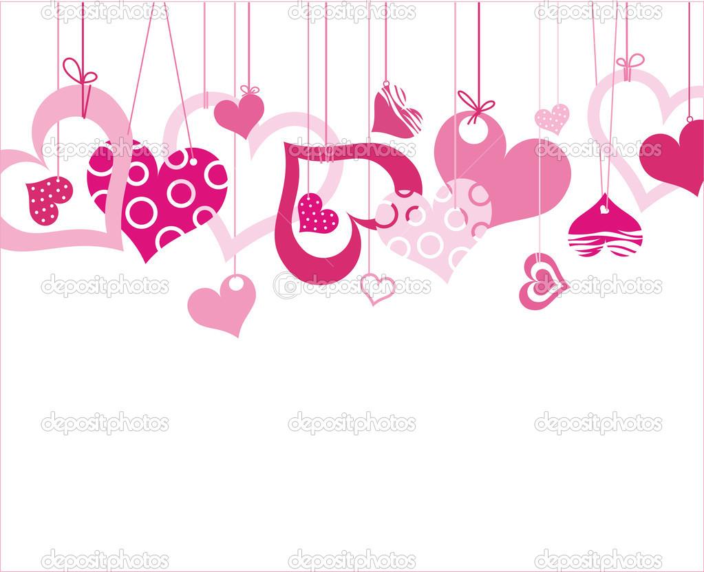 Valentine background with heart. Vector illustration — Imagens vectoriais em stock #2024366
