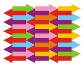 矢印の色と背景 — ストックベクタ