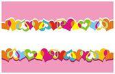 Corações de cor — Vetorial Stock