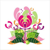 Illustration of floral flower — Stock Vector