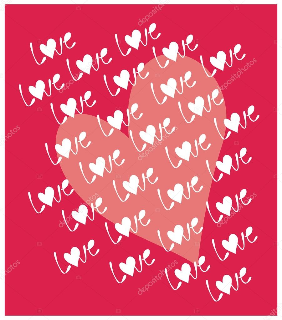 Love. Vector illustration — Stock Vector #2284533
